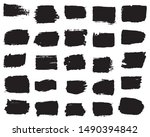 collection of paint strokes... | Shutterstock .eps vector #1490394842
