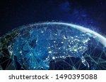 Telecommunication network above ...