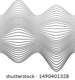 abstract black wavy stripes...   Shutterstock .eps vector #1490401328