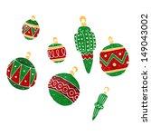 cartoon christmas bauble | Shutterstock . vector #149043002