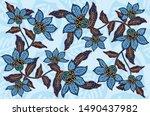 Indonesian Batik Motifs With...