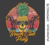 Beach Club Party Skull...
