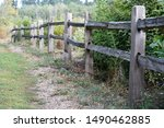 Old Wooden Fence On Wetland...