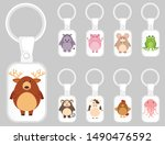 keychain template design with... | Shutterstock .eps vector #1490476592