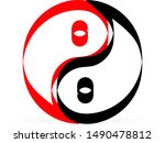 sign of chinese philosophy of...   Shutterstock .eps vector #1490478812