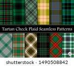 set green tartan plaid scottish ... | Shutterstock .eps vector #1490508842
