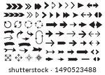 arrows big black vector... | Shutterstock .eps vector #1490523488