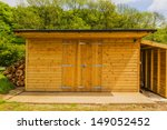 A New Wooden Shed In The...