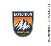 expedition mountains   concept... | Shutterstock .eps vector #1490531435