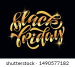 black friday sale   cute hand... | Shutterstock .eps vector #1490577182