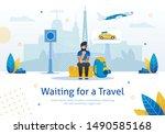 waiting for travel  navigation  ... | Shutterstock .eps vector #1490585168