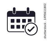 flat calendar icon design....   Shutterstock . vector #1490611802