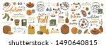 set of autumn vector... | Shutterstock .eps vector #1490640815