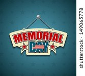 memorial day american signs... | Shutterstock .eps vector #149065778
