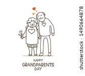 happy grandparents day vector...   Shutterstock .eps vector #1490664878