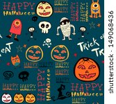 halloween seamless background... | Shutterstock .eps vector #149068436
