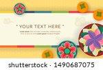happy chuseok background vector ... | Shutterstock .eps vector #1490687075