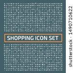 shopping and e commerce vector... | Shutterstock .eps vector #1490710622