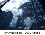 display of stock market quotes | Shutterstock . vector #149072456