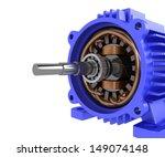 electric motor. 3d image.... | Shutterstock . vector #149074148