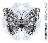 composition of a butterfly...   Shutterstock . vector #1490743718