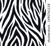 zebra fur seamless pattern....   Shutterstock .eps vector #1490761118