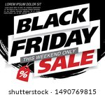 black friday sale banner layout ... | Shutterstock .eps vector #1490769815