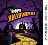 halloween background greeting... | Shutterstock .eps vector #149077862