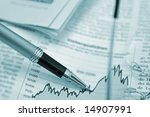 pen showing diagram on... | Shutterstock . vector #14907991