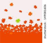 autumn background   maple | Shutterstock .eps vector #149081606