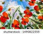 Beautiful Red Poppies Poppy...
