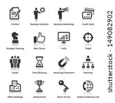 business icons   set 2  | Shutterstock .eps vector #149082902