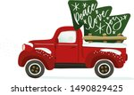Christmas Truck Vector Clipart...