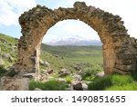 Images of the nature and stone arch of Kayseri Erciyes