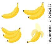 Bananas In Flat Style. Banana...