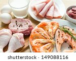 ingredients for protein diet | Shutterstock . vector #149088116