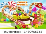 candy board game for children... | Shutterstock .eps vector #1490966168