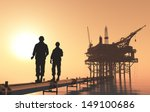 silhouettes of workers in the... | Shutterstock . vector #149100686
