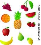 vector fruits illustration | Shutterstock .eps vector #149101892