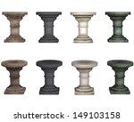 pedestal  isolated on the white ... | Shutterstock . vector #149103158