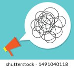 bad communication with... | Shutterstock .eps vector #1491040118