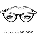 cat eye glasses   retro clip...
