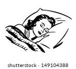 sleeping woman   retro clip art ... | Shutterstock .eps vector #149104388