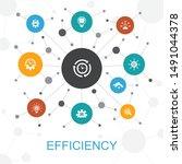 efficiency trendy web concept...