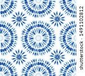 monochrome indigo bright tie... | Shutterstock .eps vector #1491102812