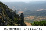 In the mountains of Sierra de Cadiz, Andalusia, Spain