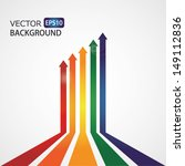 set of vector color arrows.... | Shutterstock .eps vector #149112836