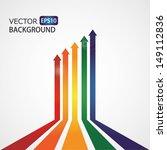 set of vector color arrows.... | Shutterstock .eps vector #149112836