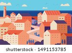 city landscape with buildings ... | Shutterstock .eps vector #1491153785