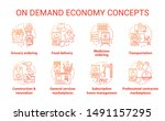 supply and demand concept icons ... | Shutterstock .eps vector #1491157295